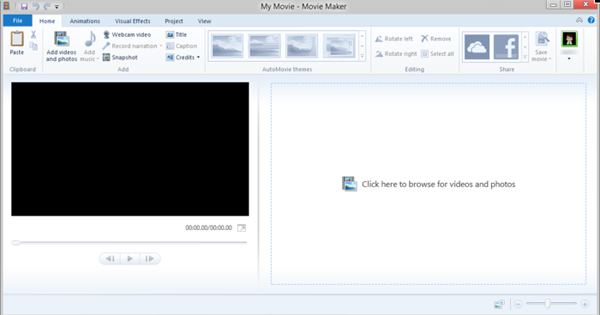 how to adjust speed of video in win movie maker