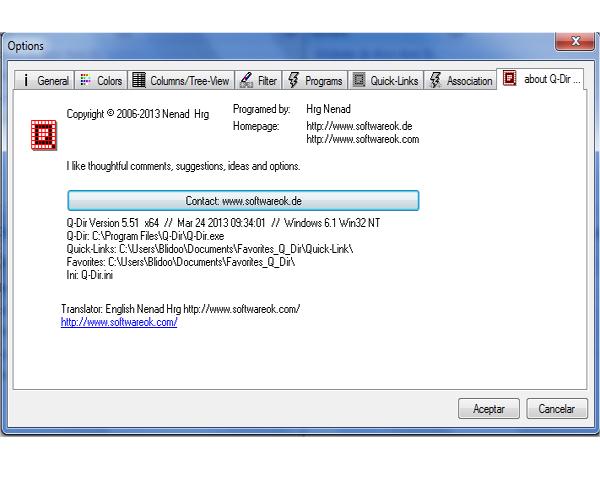 Download Q Dir for Windows 10,7,81/8 (64/32 bits)