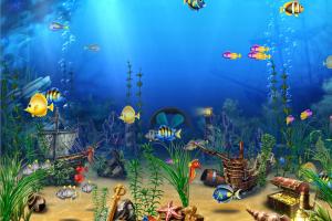 T l charger exotic aquarium 3d screensaver gratuit for Fond d ecran gratuit 974