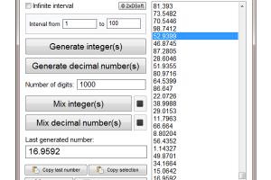random number generator freeware download