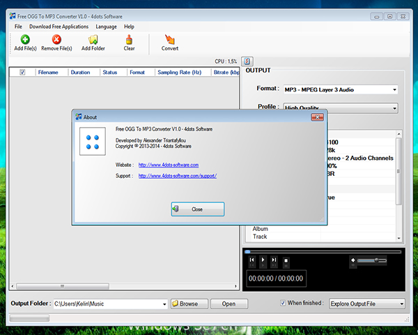 Images Free OGG To MP3 Converter