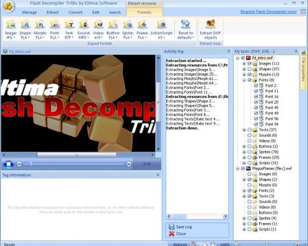 Программы: Мультимедиа - Flash скачать. . Бесплатный софтFlash Decompiler