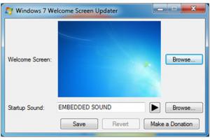Windows 7 Welcome Screen Updater
