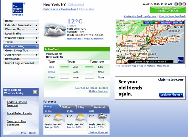 images the weather channel desktop
