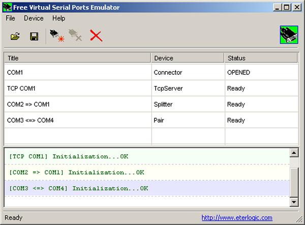 Free Virtual Serial Ports Emulator (VSPE) предназначен для создания Нап