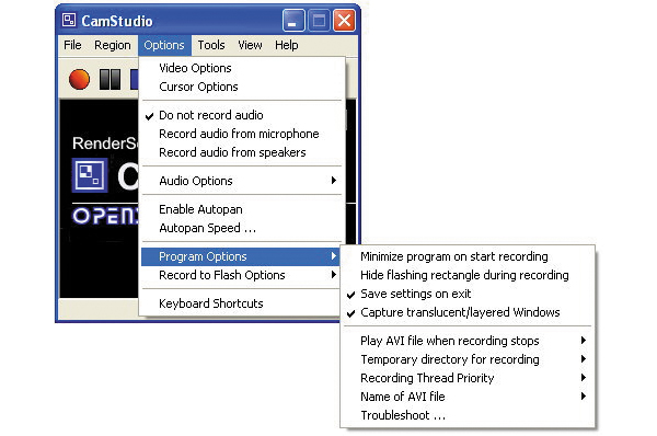 how to use camstudio 2.7 2