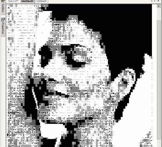 ASCII Art Studio - эта программа является мощным редактором ASCII ART и нап