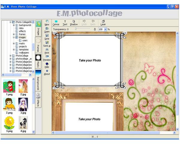 Скачать программу E.M. Free Photo Collage 1.30 бесплатно. Категория програ