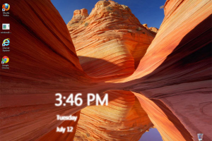 W8 Desktop Clock para Windows 7
