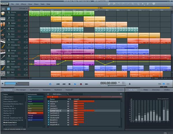 MAGIX Music Maker MX Production Suite Free Download