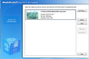 MediaProSoft Free 3GP to AVI Converter