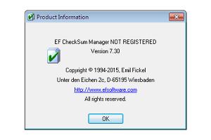 EF CheckSum Manager