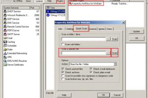 Kaspersky AntiVirus for WinGate
