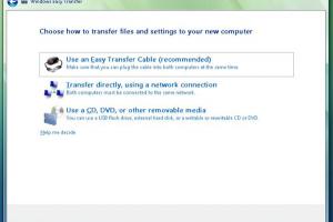 Windows 7 Easy Transfer para Vista