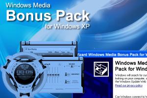 Windows Media Bonus Pack for Windows XP