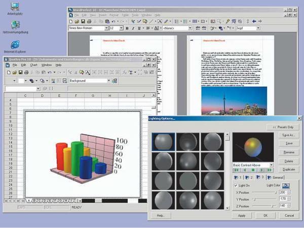 Вы можете смело использовать пакет офисных программ Corel Wordperfect Offic