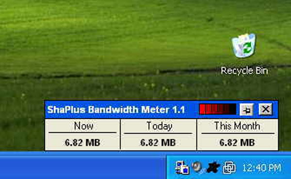 ShaPlus Bandwidth Meter - Free download and