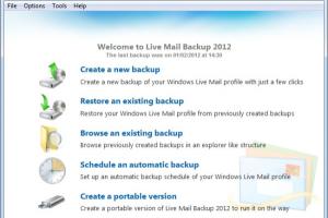 zebNet Live Mail Backup 2012