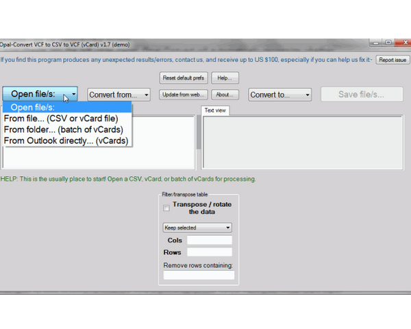 Download free Opal-Convert Excel CSV To SQL for windows 8 1 free